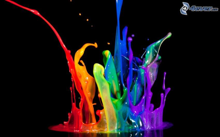 splash, farbige