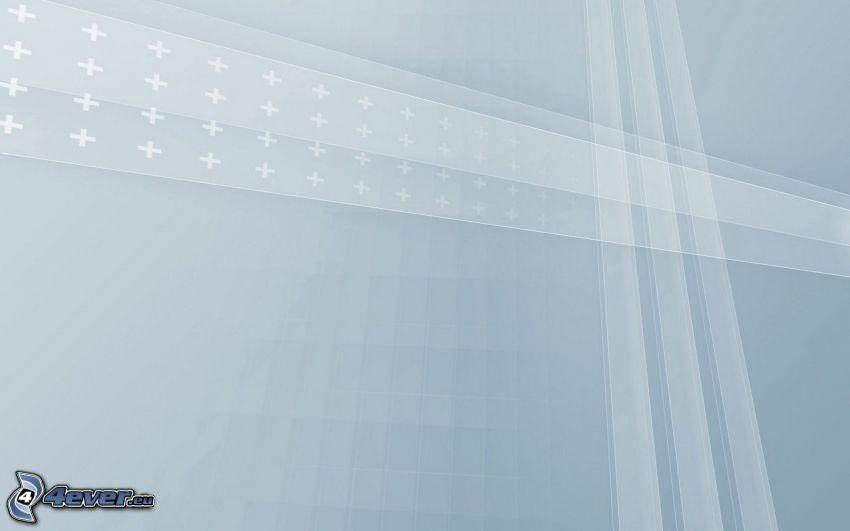 weißen Streifen, blauer Hintergrund