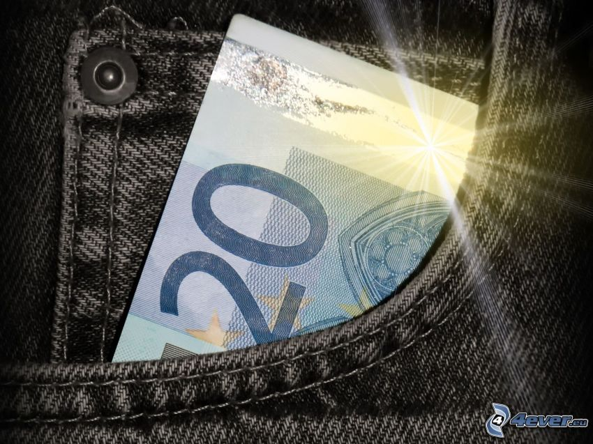 20 Euro, Tasche