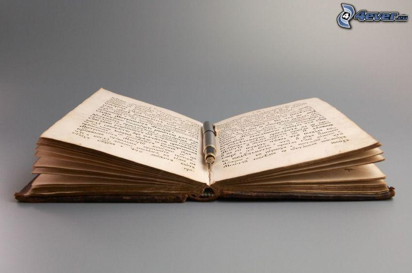 altes Buch, Kugelschreiber