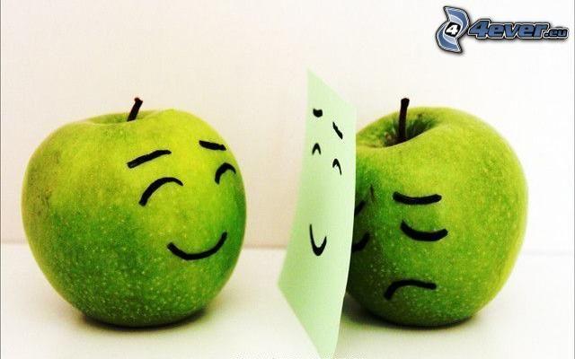 Äpfel, Verstellung
