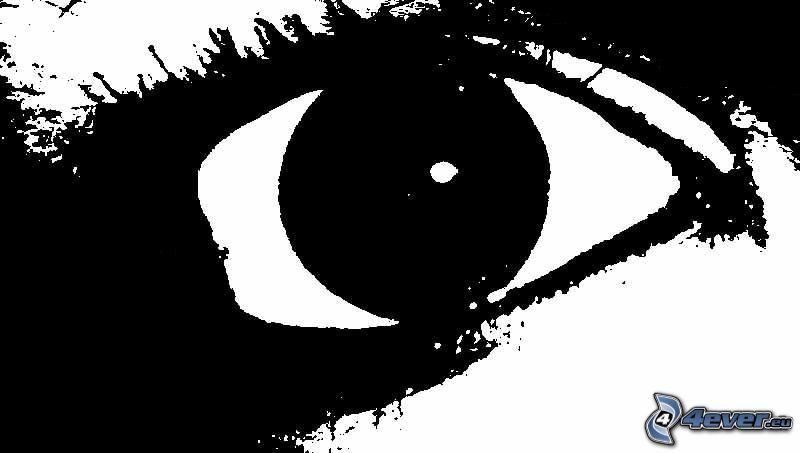 Auge, schwarzweiß