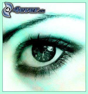 Auge, Uhr