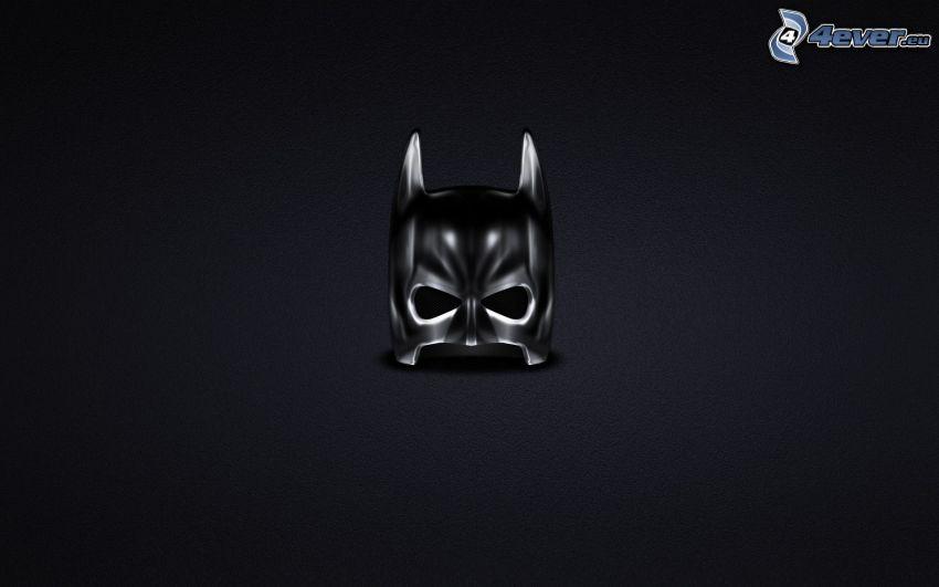 Batman, Maske, schwarzem Hintergrund