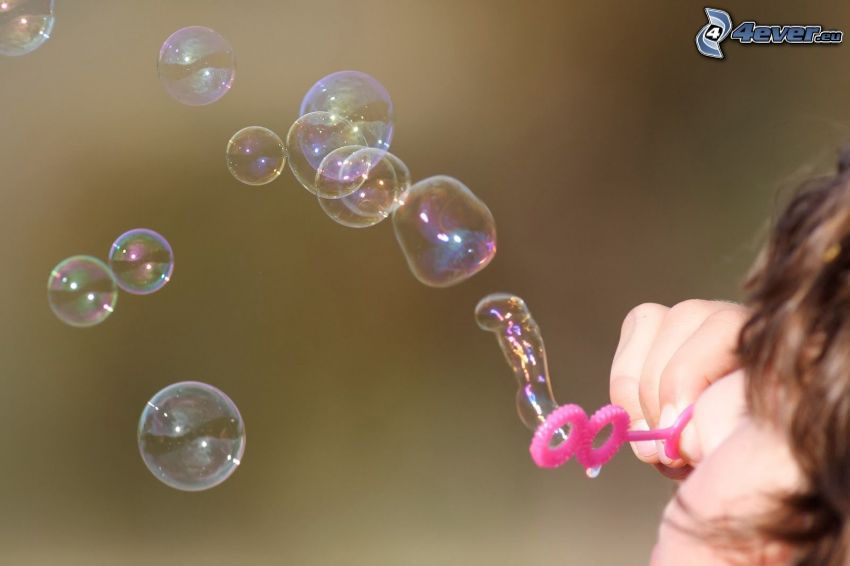 Blasen, Seifenblasenset