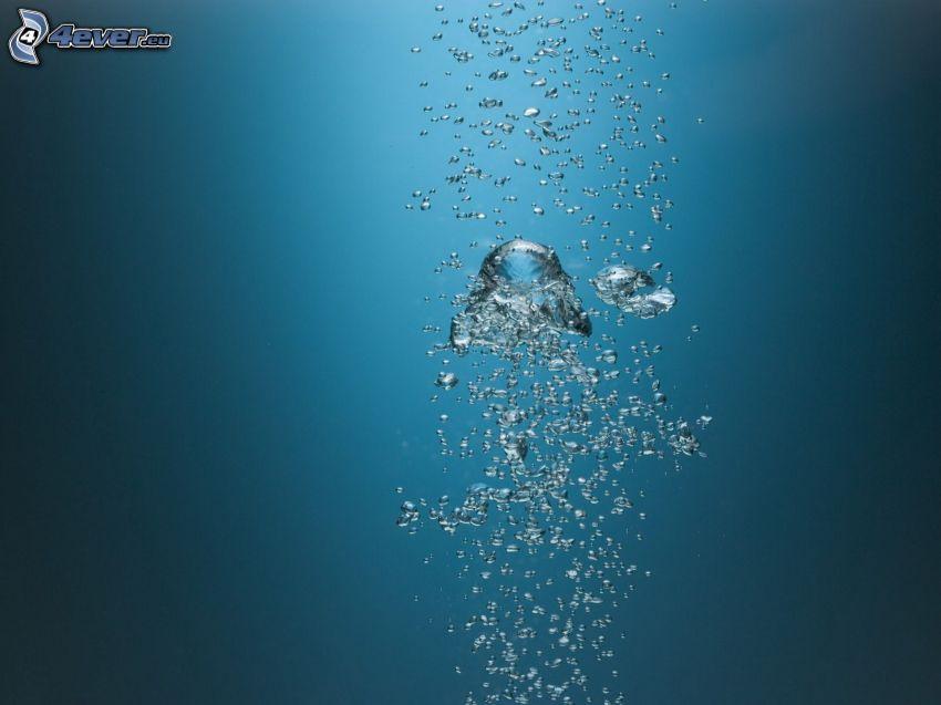 Blasen, Wasser