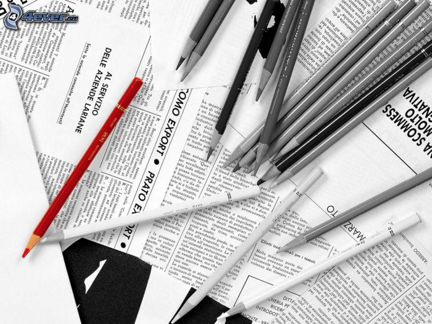Bleistifte, Zeitung