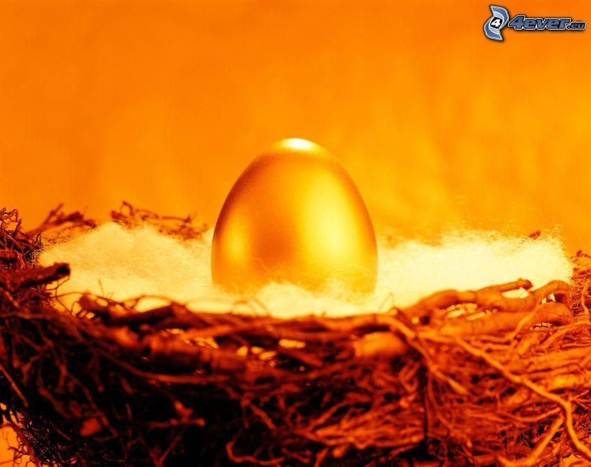 Ei, Gold, Nest