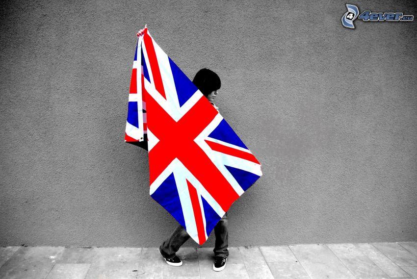 Englisch Flagge, Mädchen