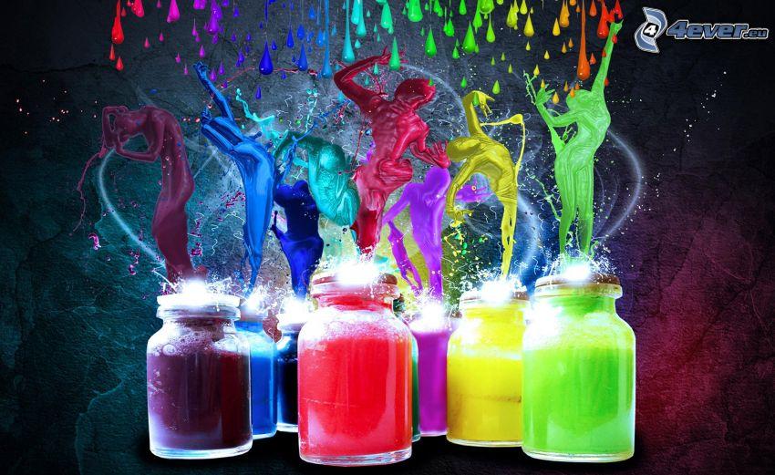 Farben, Menschen, Gläser