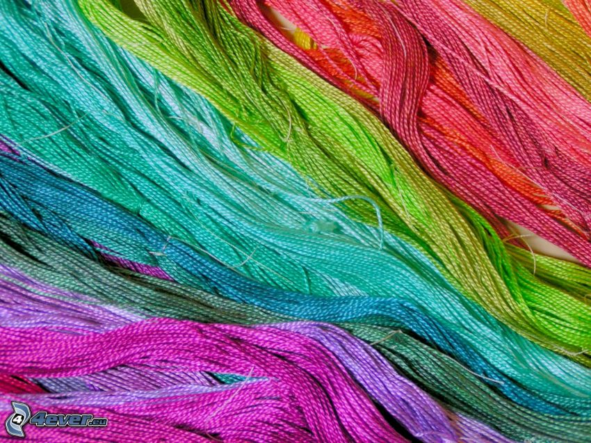 farbigen Fäden