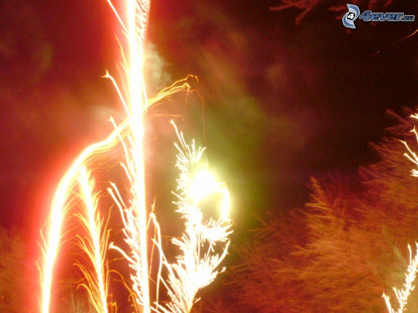 Feuerwerk, Himmel