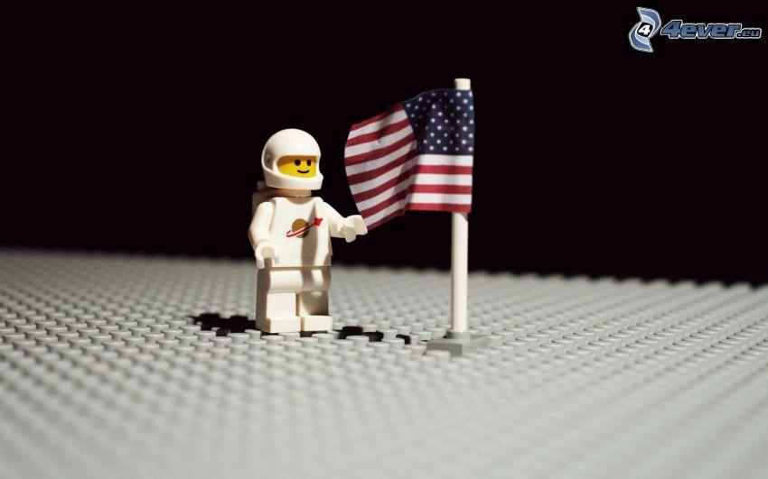 Figürchen, Lego, amerikanische Flagge