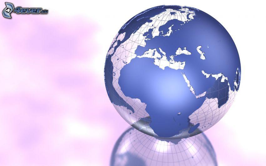 Globus, Weltkarte