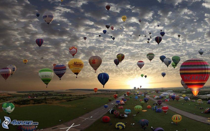 Heißluftballons, Flughafen