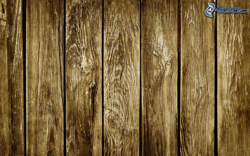 Holzwand, Bretter