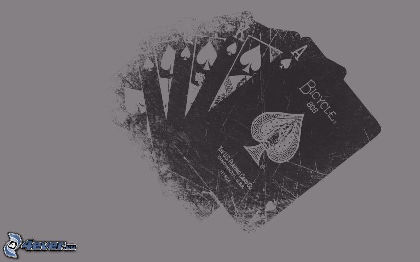 Karten, schwarzweiß