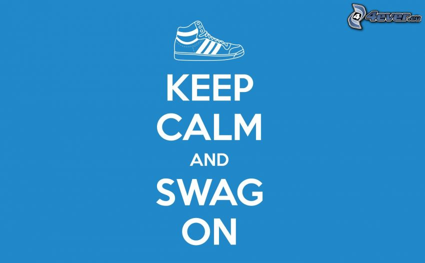 keep calm and swag on, Turnschuh