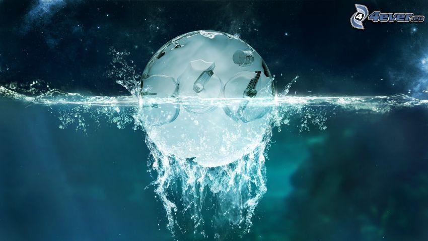 Kugel, Wasser, splash