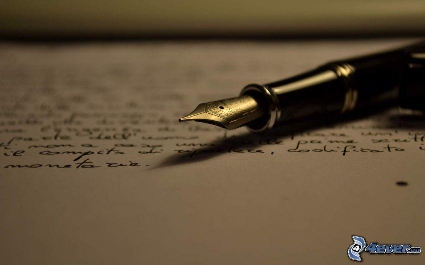 Kugelschreiber, Papier