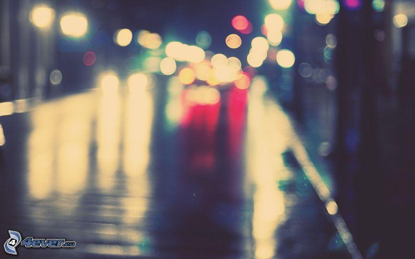 Lichter, Straße, Kugeln