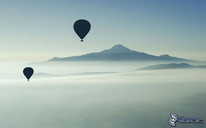 Luftballons, Berge