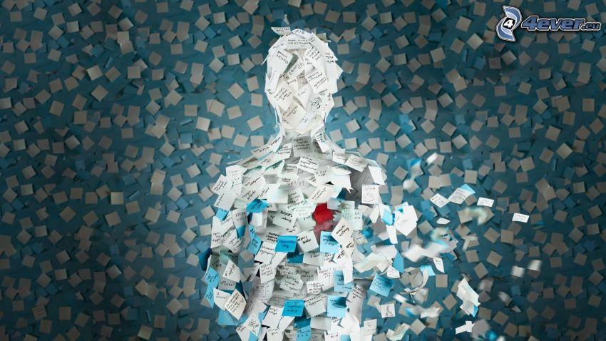 Mosaik, Aufkleber