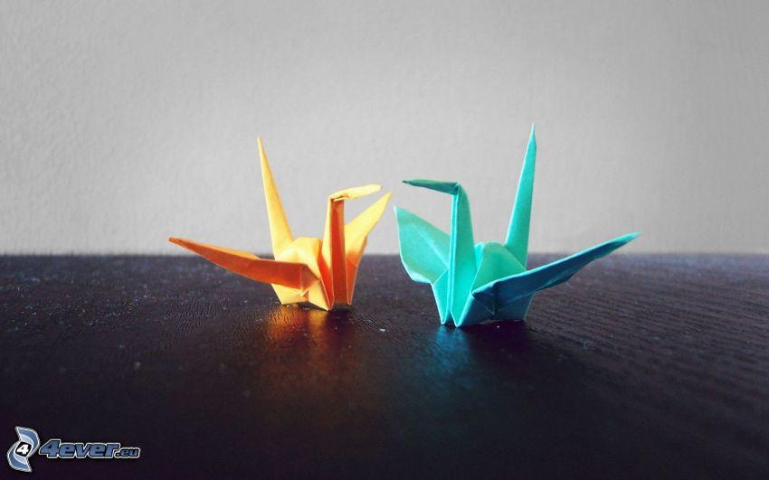 origami, Schwäne