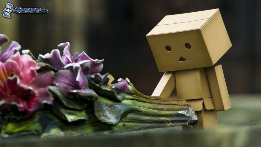 Papier-Robot, Blumensträuße