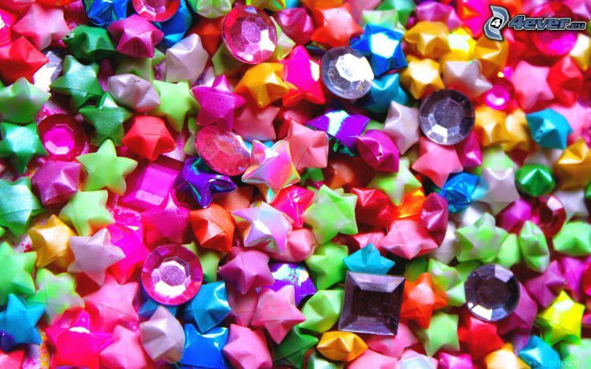 Perlenschnur, Sterne
