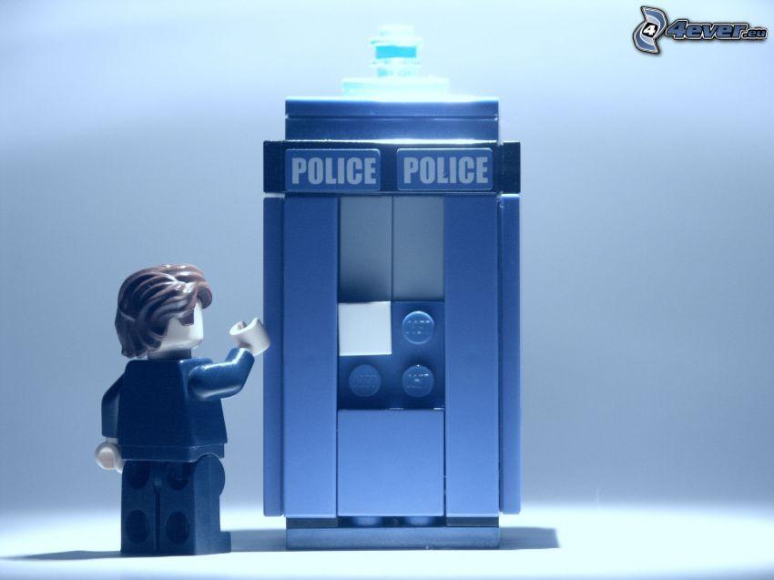 Polizei, Telefonzelle, Lego