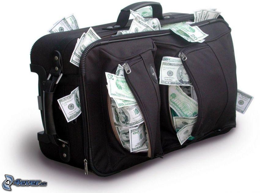 Reisetasche, Geldscheine