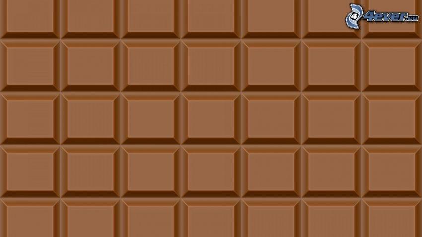 Schokolade, braunen Hintergrund