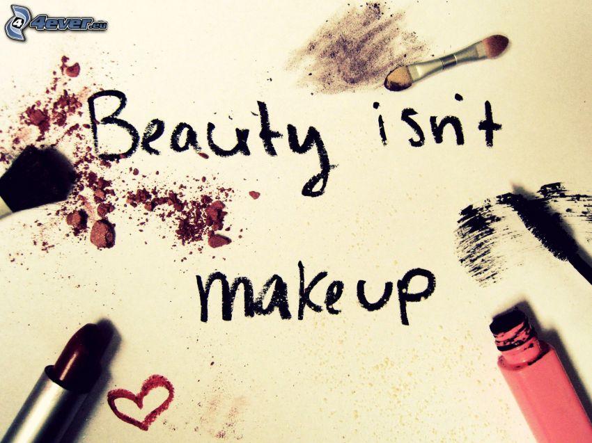 Schönheit, make-up, text, Lippenstift