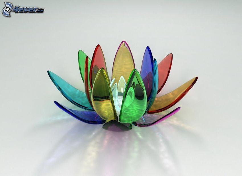 Seerose, Glas, farbige