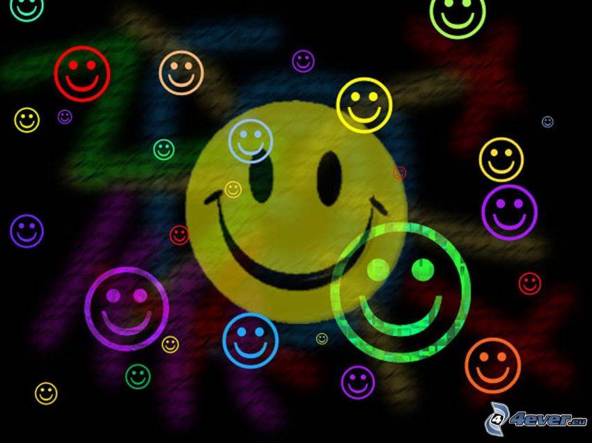 smileys, farbige