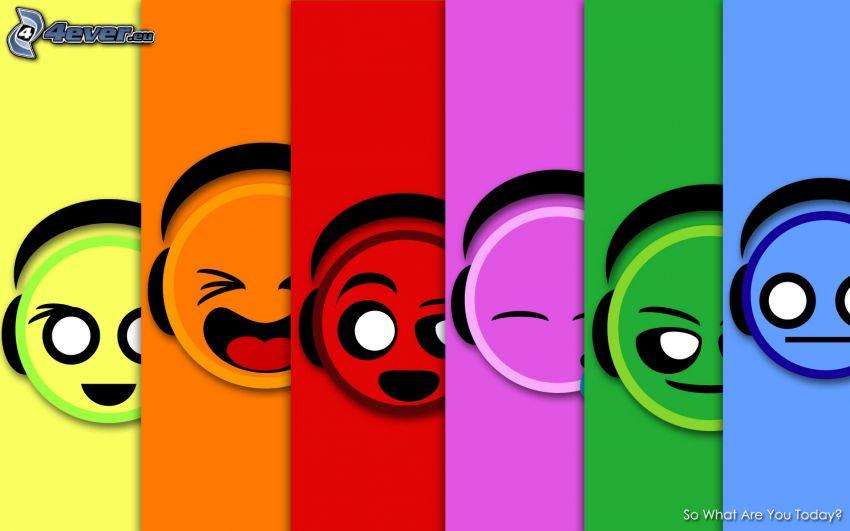 smileys, Farbstreifen