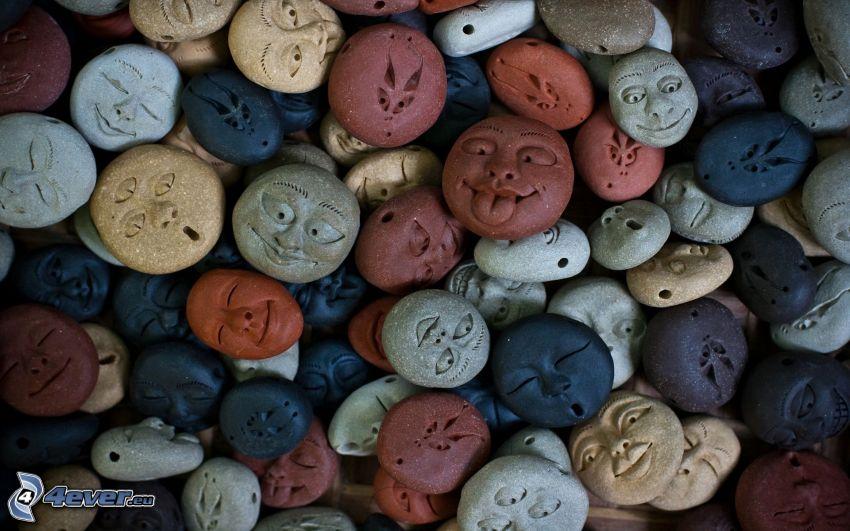 Steine, Gesichter