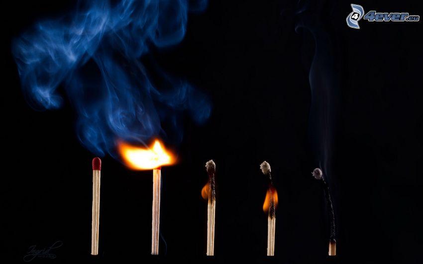 Streichhölzer, Feuer