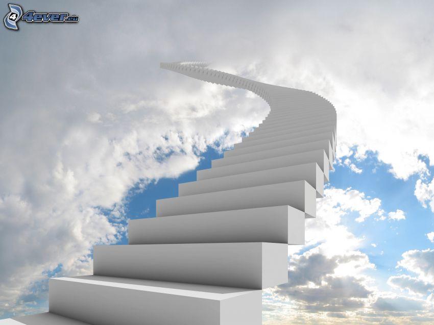 Treppen in den Himmel, Wolken
