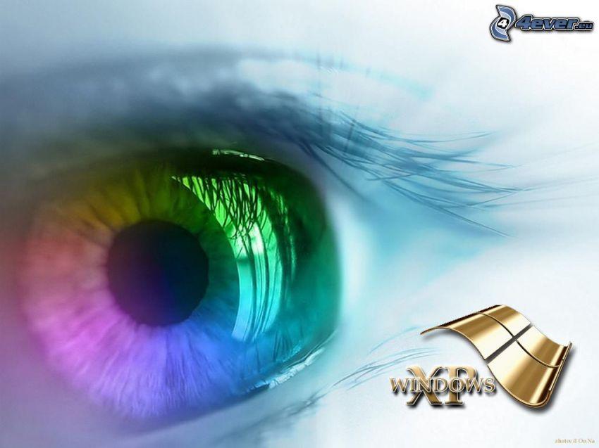 Windows XP, regenbogen Auge