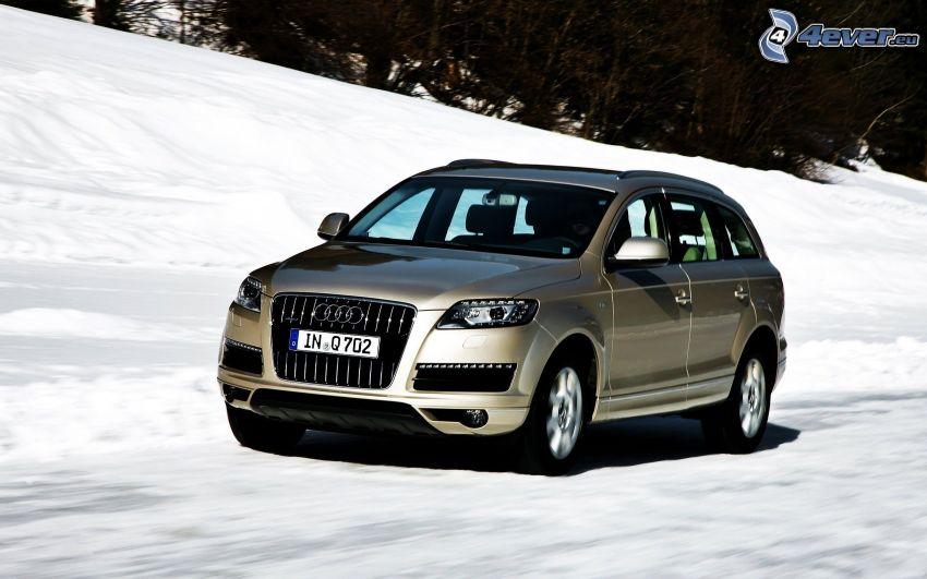 Audi Q7, Geschwindigkeit, Schnee