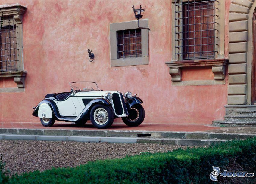 BMW, Cabrio, Oldtimer, Haus
