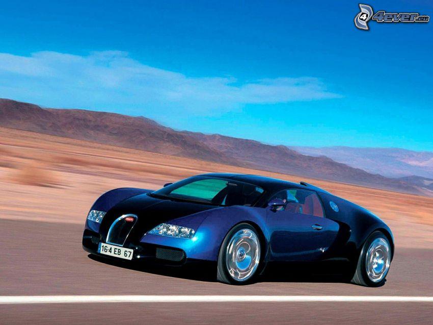 Bugatti Veyron, Wüste, Berge