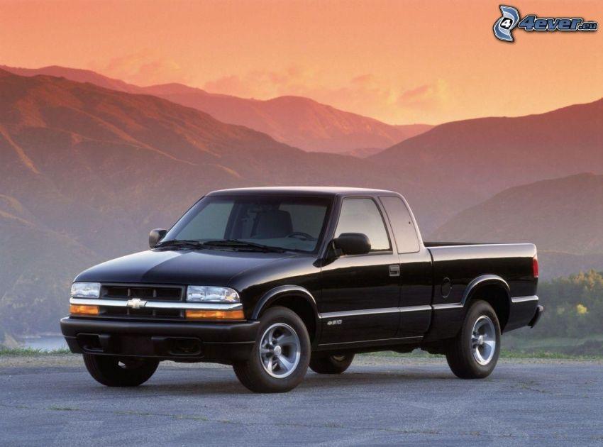 Chevrolet, pickup truck, Hügel