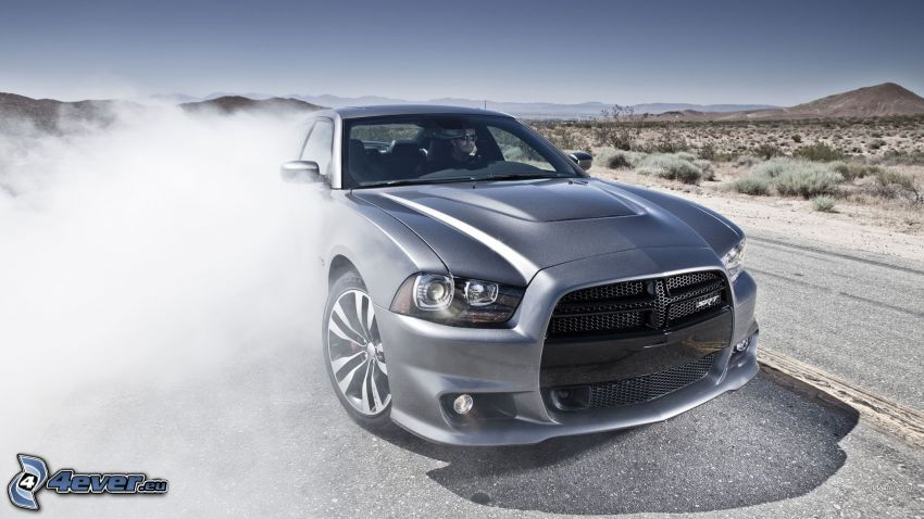Dodge Charger, burnout, Felge, Rauch