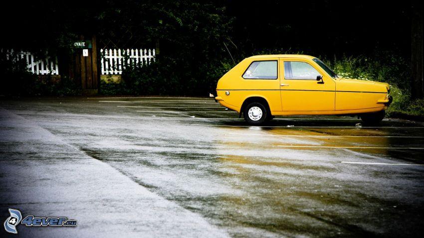 gelbe Auto, Parkplatz