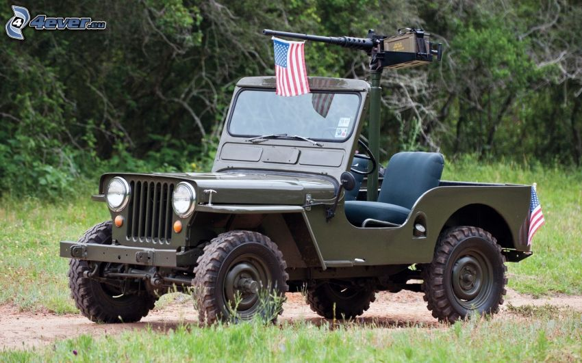 Jeep, amerikanische Flagge