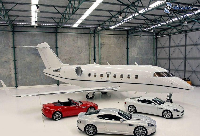 Aston Martin, Cabrio, Flugzeug