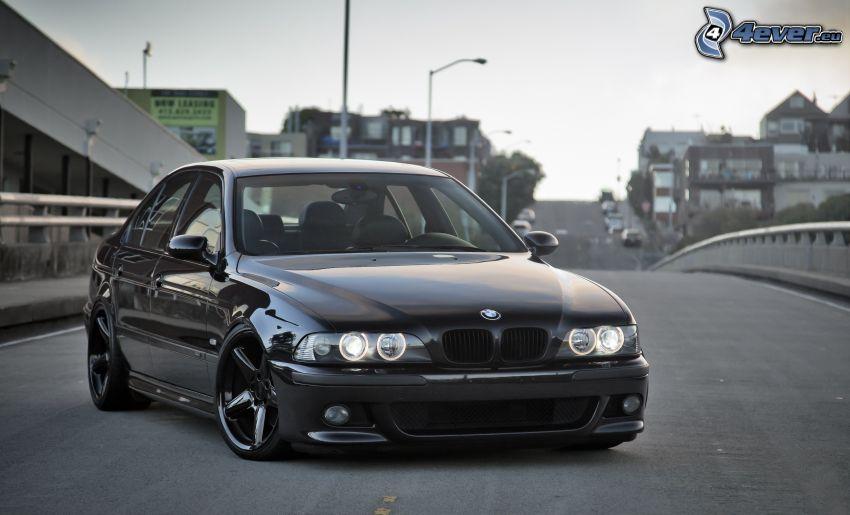 BMW E39, Straße, City, Lichter